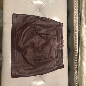 Valentine Gauthier Skirts - Valentine Gauthier maroon leather mini 0